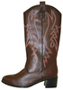 Adult Brown Cowboy Boots Reverse Image